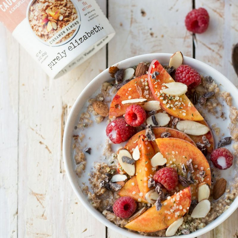 Cinnamon Almond Cauli Hot Cereal Cup & pouch - Purely Elizabeth - Certified Paleo by the Paleo Foundation