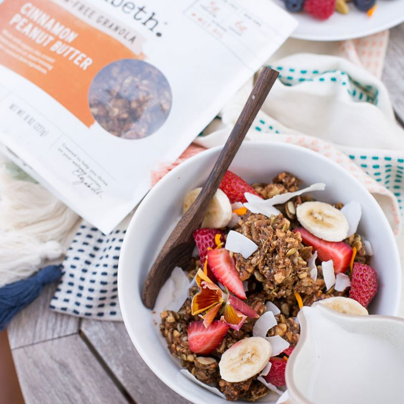 Cinnamon Peanut Butter Grain-Free Granola with MCT - Purely Elizabeth - KETO Certified by the Paleo Foundation