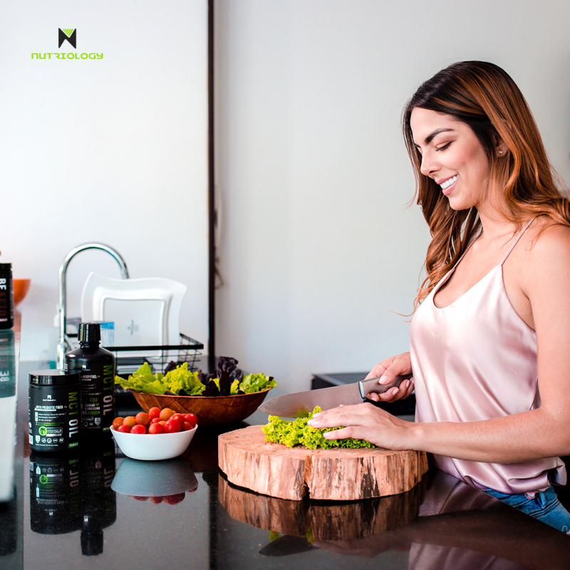 Food prep with MCT Oil & Powder - Nutriology - Certified Paleo Friendly, PaleoVegan, and KETO Certifed by the Paleo Foundation