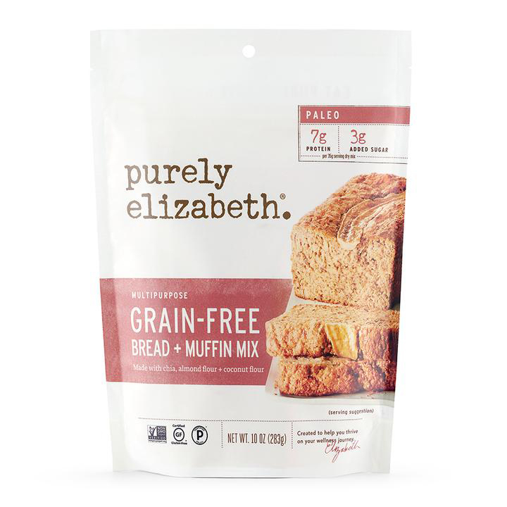 Grain Free Bread And Muffin Mix - Purely Elizabeth - Certified Paleo, Keto Certified by the Paleo Foundation