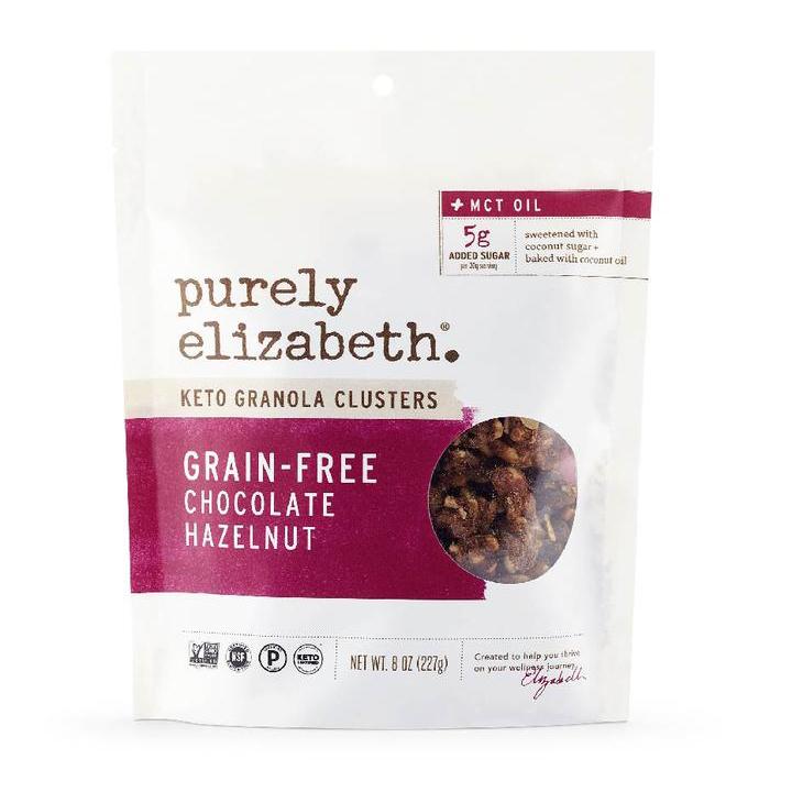 Grain Free Chocolate Hazelnut MCT Oil Granola - Purely Elizabeth - Certified Paleo, Keto Certified by the Paleo Foundation