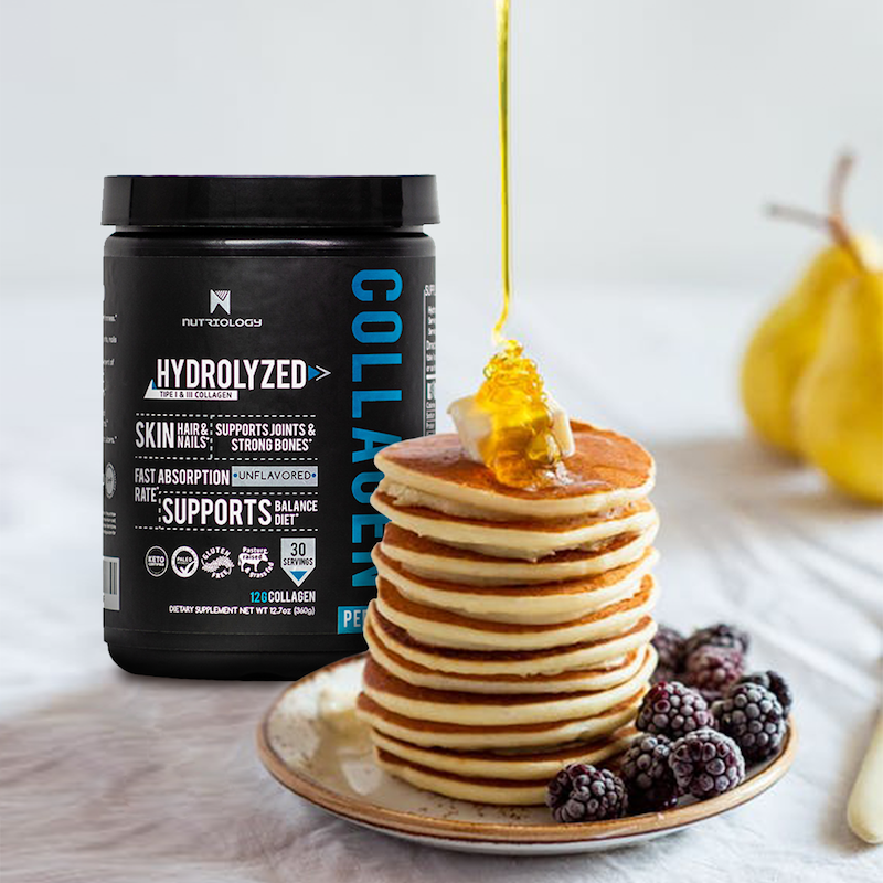 Keto pancakes with Collagen Peptides - Nutriology - Certified Paleo Friendly, KETO Certified by the Paleo Foundation