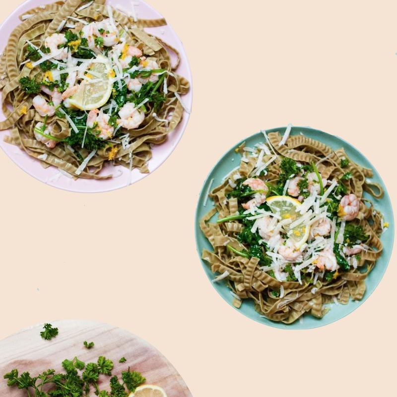 Lemon Garlic Shrimp Pasta - Liviva Foods - KETO Certified by the Paleo Foundation