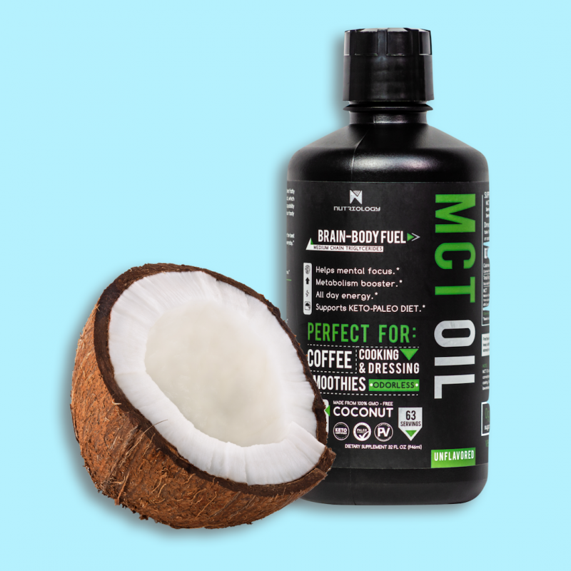 MCT Oil - Nutriology - Certified Paleo Friendly, PaleoVegan, and KETO Certifed by the Paleo Foundation