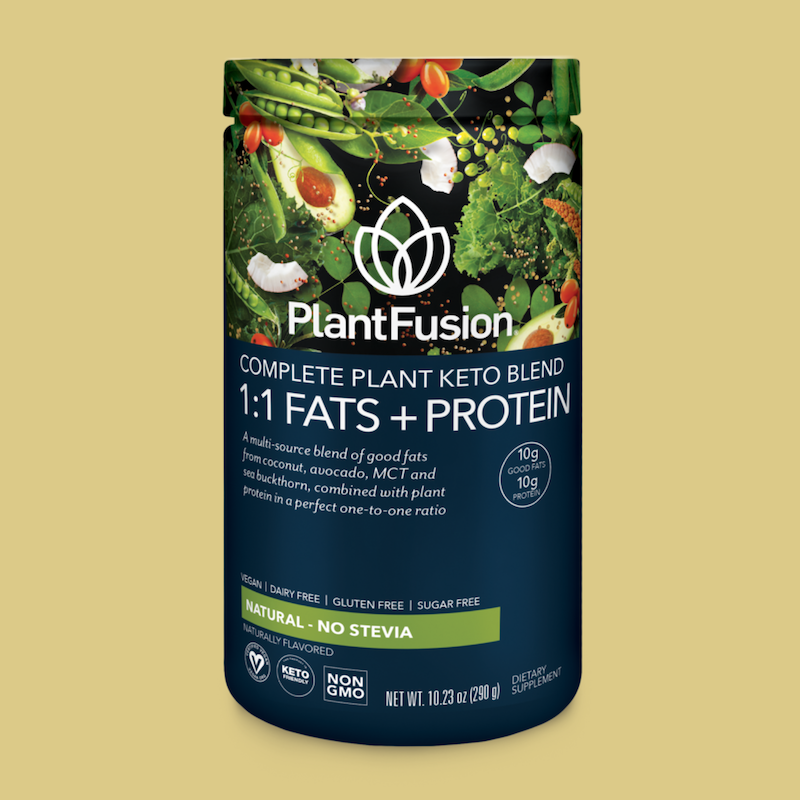 Natural No Stevia Complete Plant Keto Blend Protein - PlantFusion - KETO Certified by the Paleo Foundation
