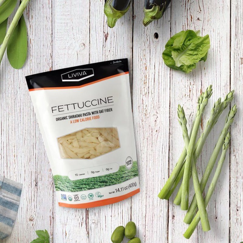 Organic Shirataki Fettuccine with Oat Fiber - Liviva Foods - KETO Certified by the Paleo Foundation
