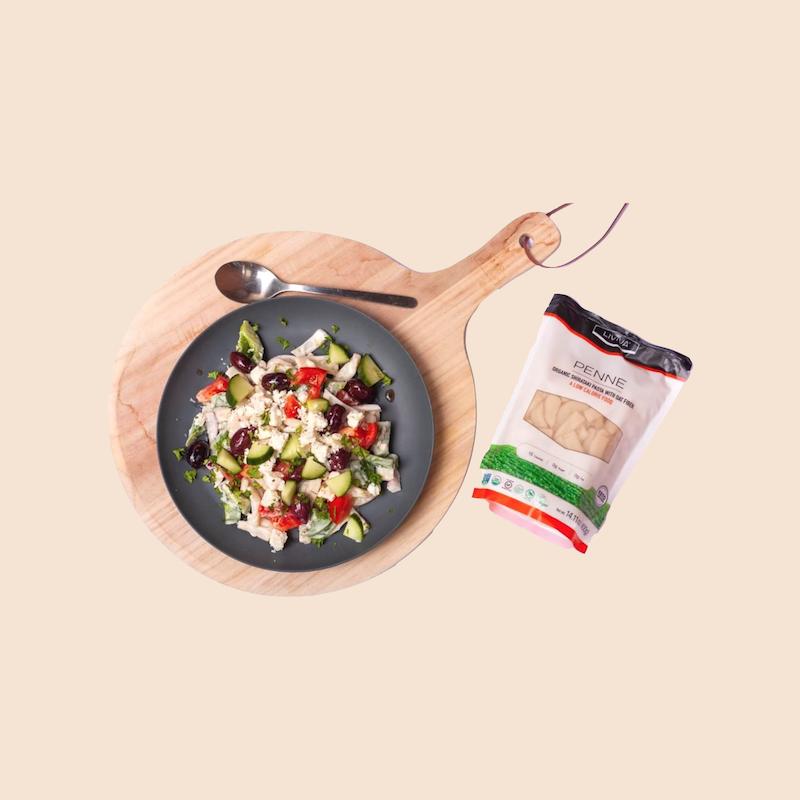 Organic Shirataki Penne with Oat Fiber - Liviva Foods - KETO Certified by the Paleo Foundation