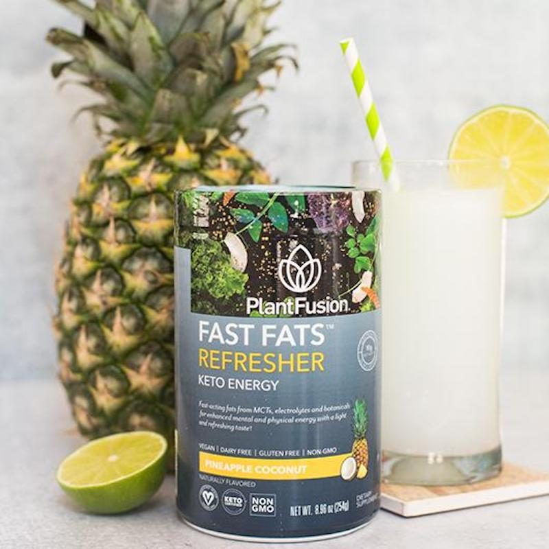 Pineapple Coconut Fast Fats Refresher - Plant Fusion - KETO Certified by the Paleo Foundation