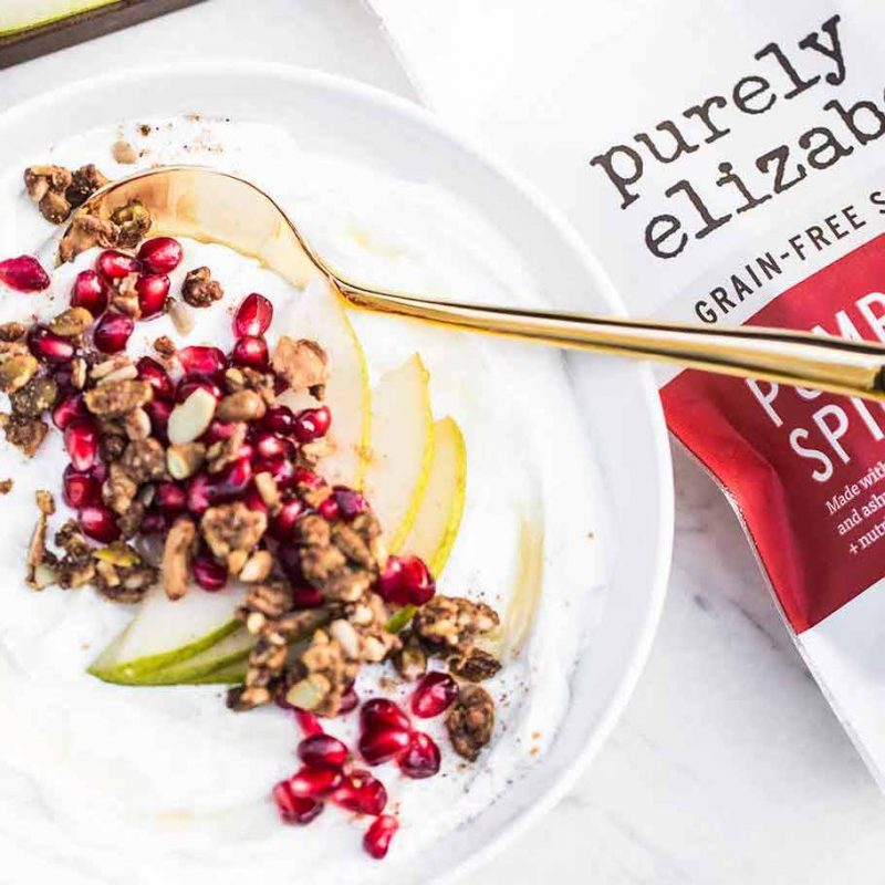 Pumpkin Spice Grain-Free Granola 1 - Purely Elizabeth - Certified Paleo, KETO Certified by the Paleo Foundation