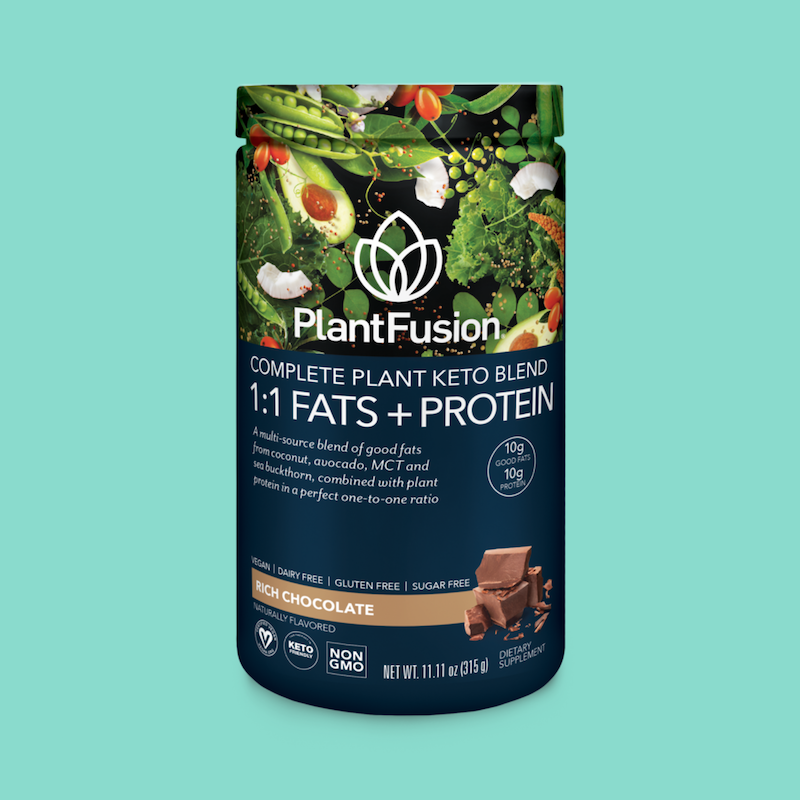 Rich Chocolate Complete Plant Keto Blend Protein - PlantFusion - Certified KETO by the Paleo Foundation