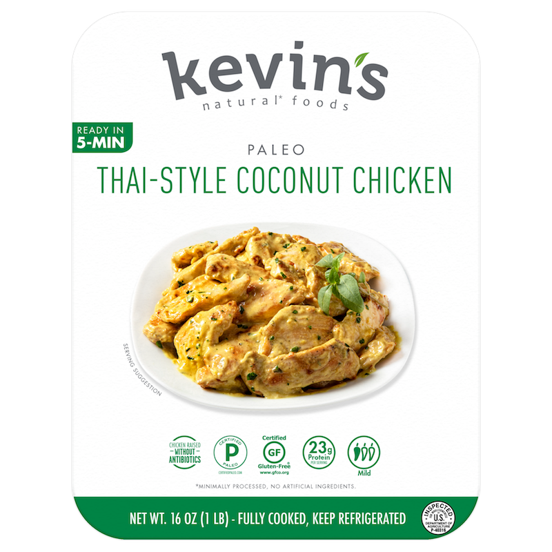 Thai-style Coconut Chicken - Kevin's Natural Foods - Certified Paleo, KETO Certified by the Paleo Foundation