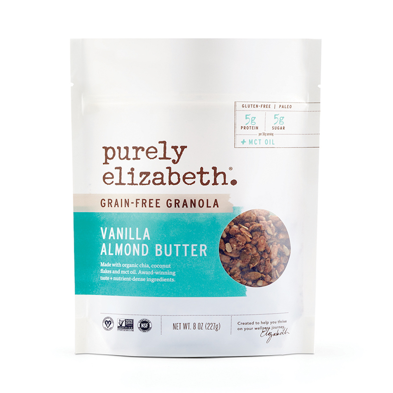 Vanilla Almond Butter Grain-Free Granola + MCT Oil - Purely Elizabeth - Certified Paleo, KETO Certified by the Paleo Foundation