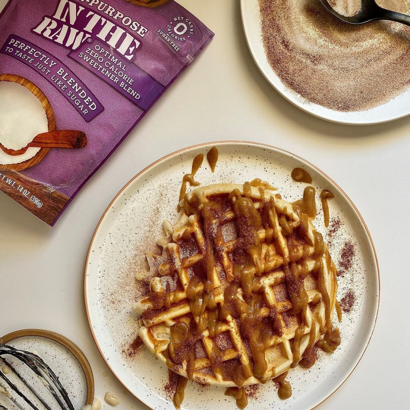 Optimal Zero Calorie Sweetener Churro Waffle - In The Raw - Keto Certified by the Paleo Foundation