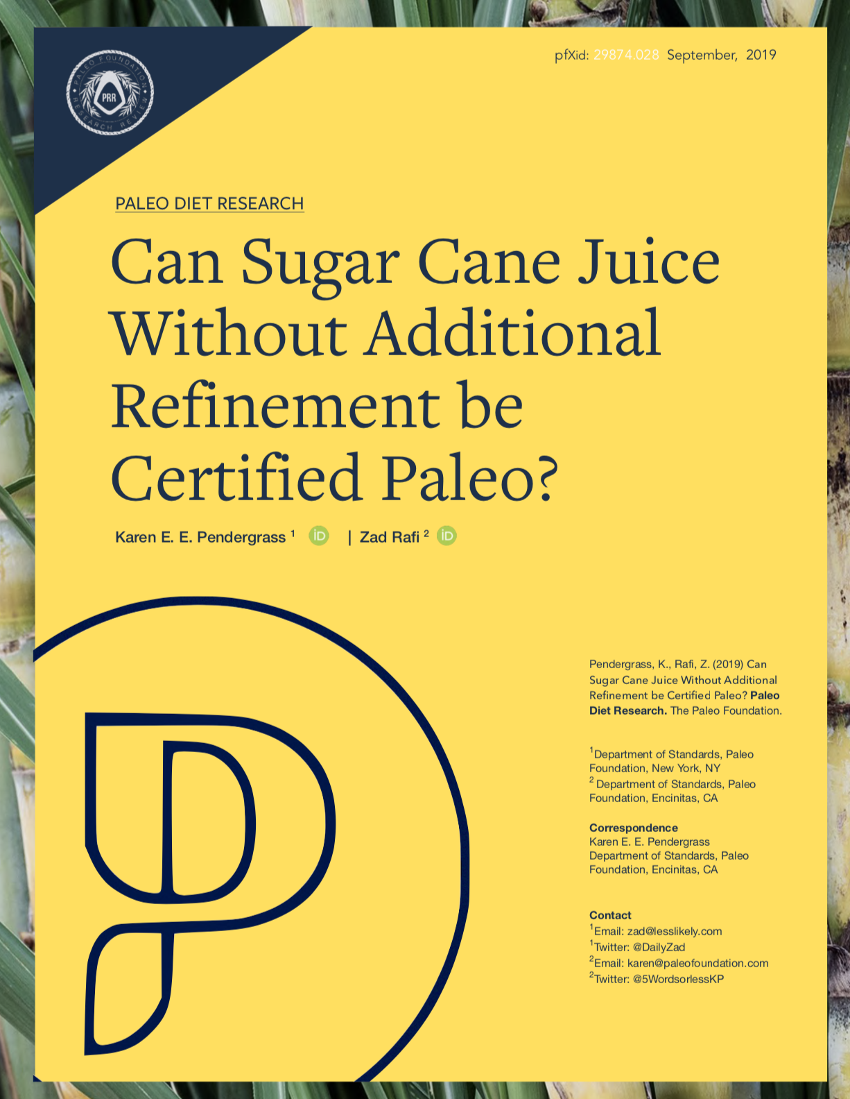 Can Sugar Cane Juice without refinement be Certified Paleo by Karen Pendergrass