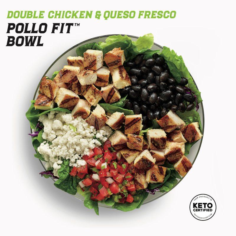 Double Chicken & Queso Fresco Pollo Fit Bowl - El Pollo Loco - KETO Certified by the Paleo Foundation