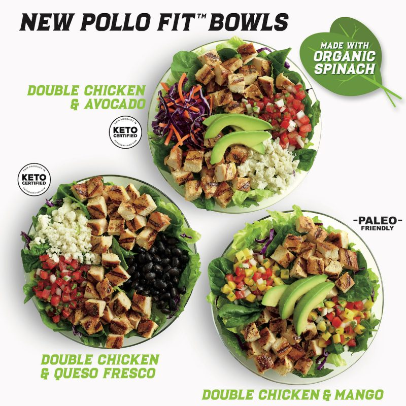 Pollo Fit Bowls Group - El Pollo Loco - KETO Certified by the Paleo Foundation