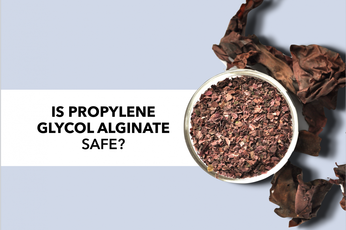 Is propylene glycol alginate a safe food additive?