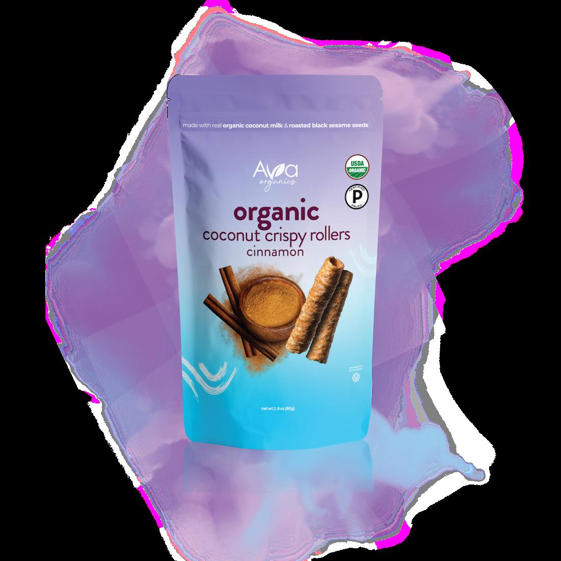 Coconut Crispy Rollers - Cinnamon - Ava Organics - Certified Paleo by the Paleo Foundation