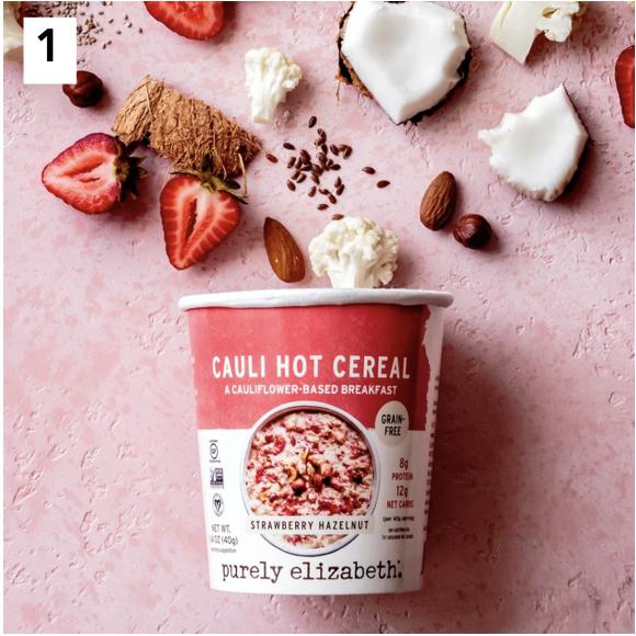 Strawberry Hazelnut Cauli Hot Cereal Cup Paleo Certified