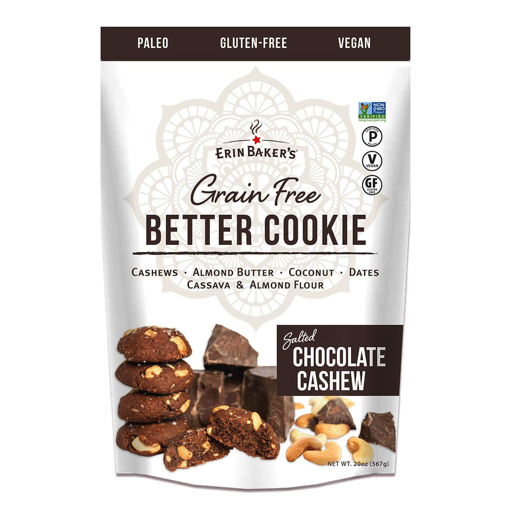 Better Cookie Chocolate Cashew - Erin Baker's Wholesome - Certified Paleo by the Paleo Foundation