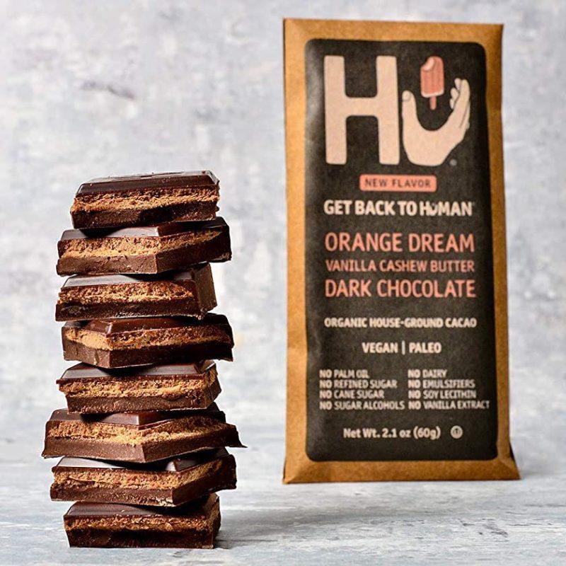 Cashew Butter & Orange Vanilla Bean Dark Chocolate 01 - Hu Kitchen - Certified Paleo by the Paleo Foundation