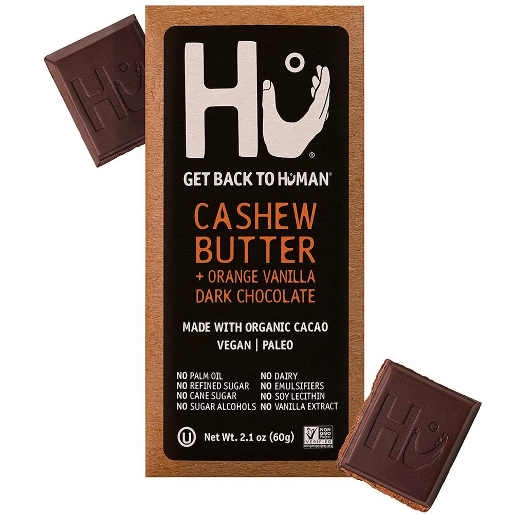 Cashew Butter & Orange Vanilla Bean Dark Chocolate - Hu Kitchen - Certified Paleo by the Paleo Foundation