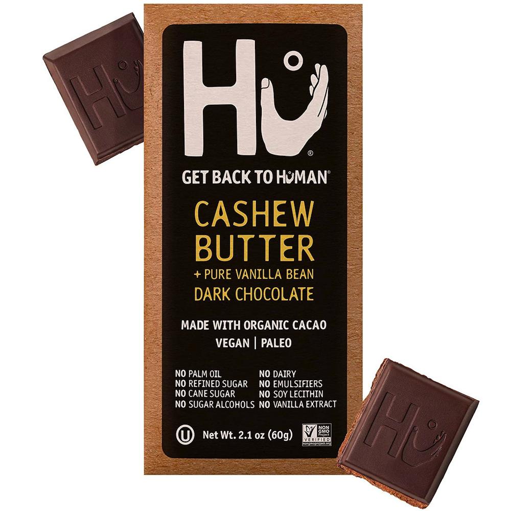 Cashew Butter & Pure Vanilla Bean Dark Chocolate - Hu Kitchen - Certified Paleo by the Paleo Foundation