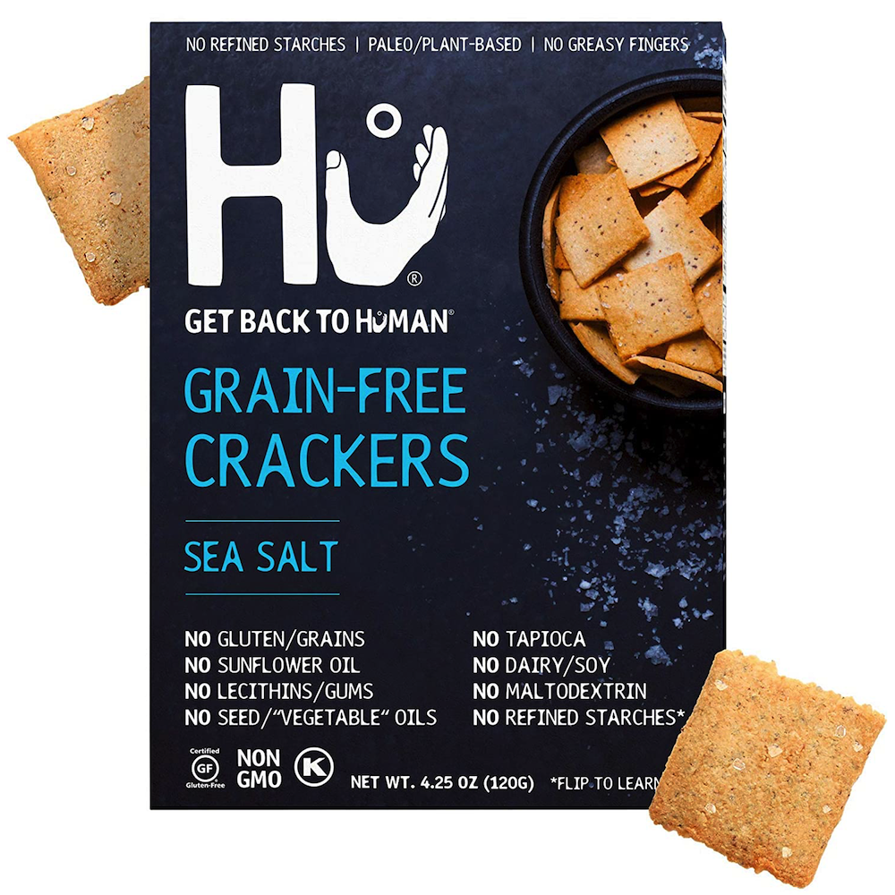 Grain Free Crackers - Sea Salt - Hu Kitchen - Certified Paleo by the Paleo Foundation