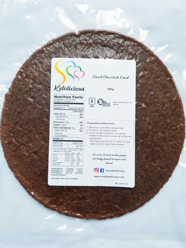 Keto Dessert Crusts Chocolate - Sooo Ketolicious - Keto Certified by the Paleo Foundation