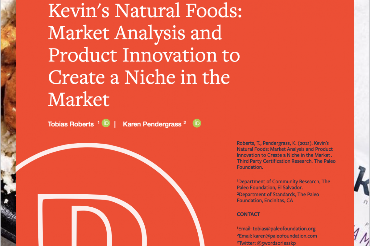 Kevin's Natural Foods: Market Analysis and Innovation to Create a Niche