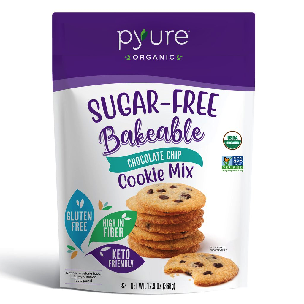 Organic Chocolate Chip Cookie Mix, Sugar-Free - Pyure Organic - Keto Certified by the Paleo Foundation