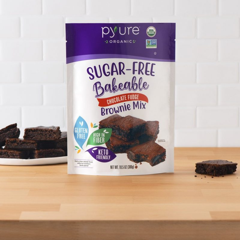 Organic Chocolate Fudge Brownie Mix, Sugar-Free 01 - Pyure Organic - Keto Certified by the Paleo Foundation