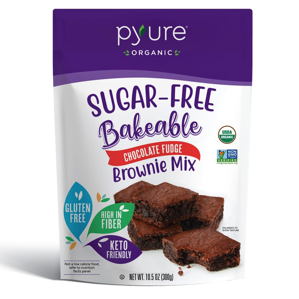 Organic Chocolate Fudge Brownie Mix, Sugar-Free - Pyure Organic - Keto Certified by the Paleo Foundation