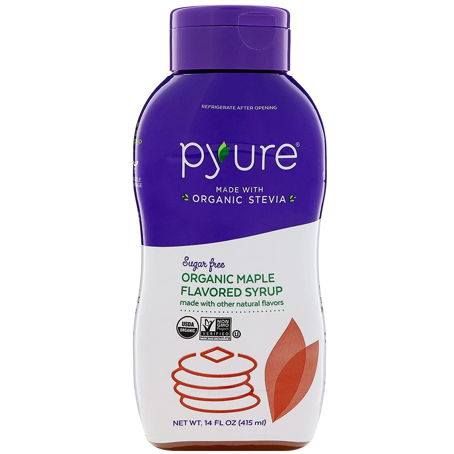 Organic Maple Flavored Syrup - Pyure Organics - Keto Certified by the Paleo Foundation