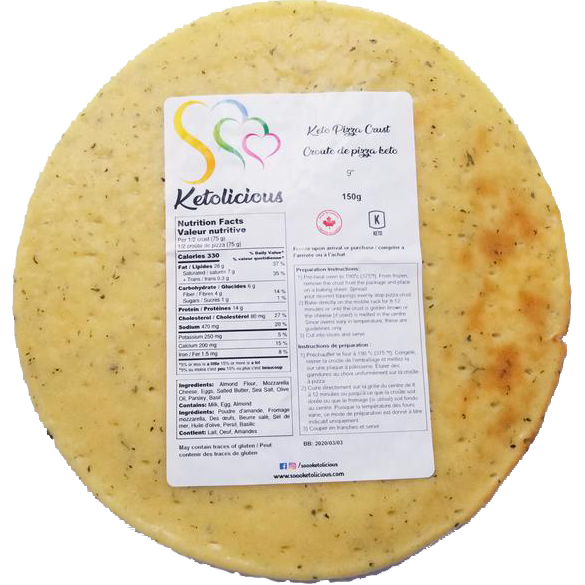 Premium Ketogenic Pizza Crust - Sooo Ketolicious - Keto Certified by the Paleo Foundation
