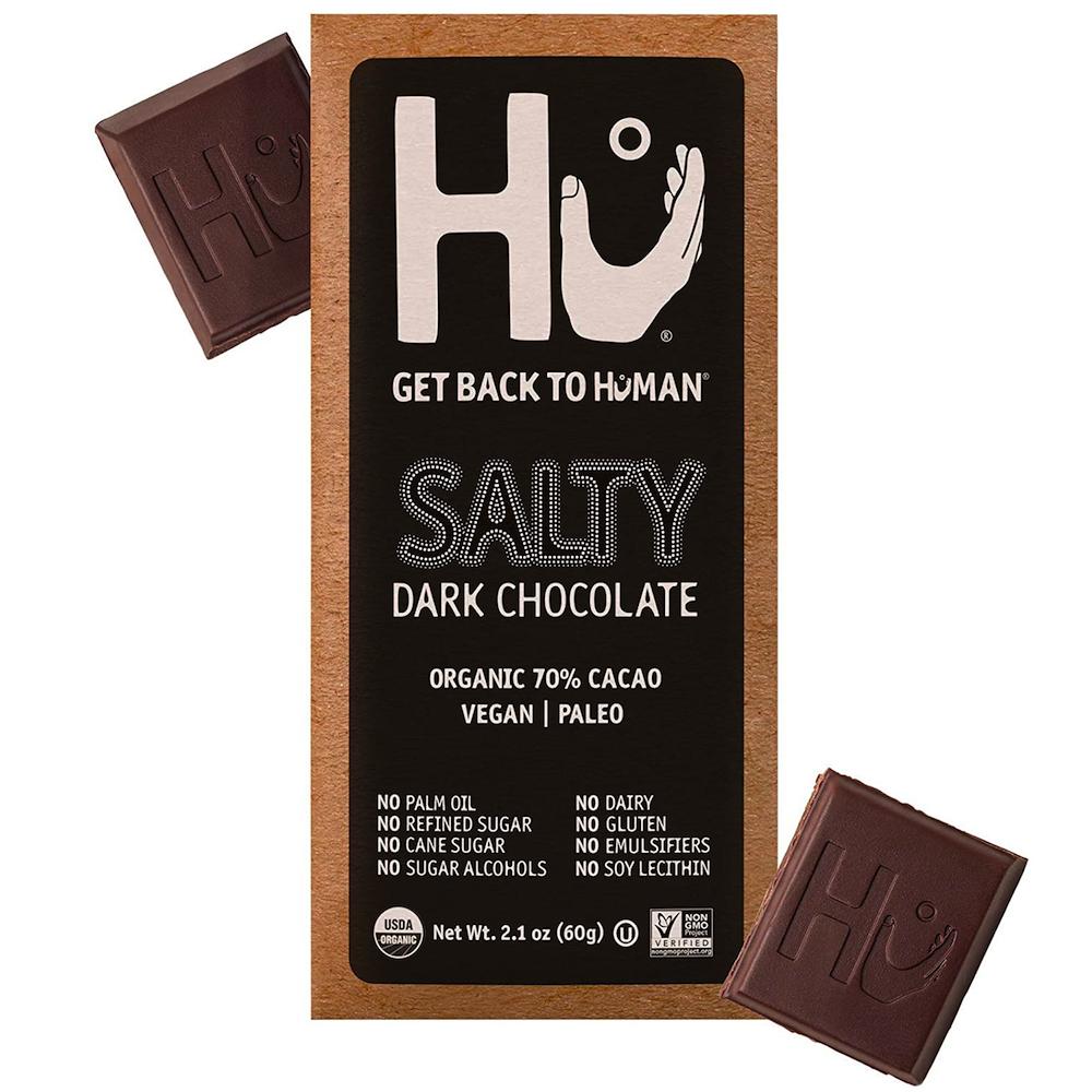 Salty Dark Chocolate - Hu Kitchen - Certified Paleo by the Paleo Foundation