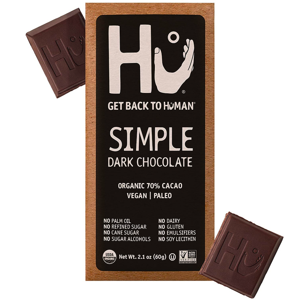 Simple Dark Chocolate - Hu Kitchen - Certified Paleo by the Paleo Foundation