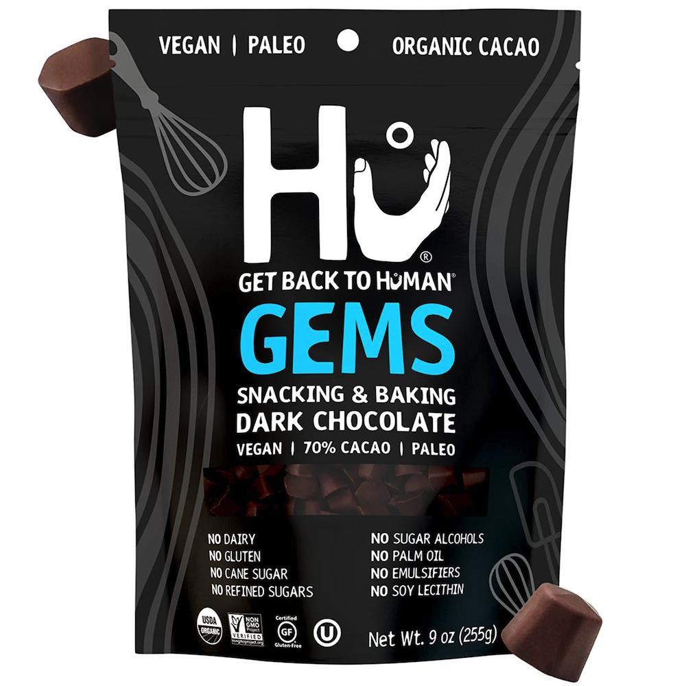 Snacking & Baking Dark Chocolate Gems - Hu Kitchen - Certified Paleo by the Paleo Foundation