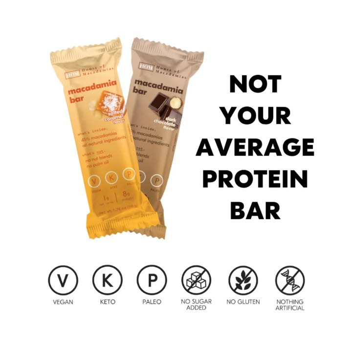 Macadamia Bars - House of Macadamias - Certified PaleoVegan by the Paleo Foundation