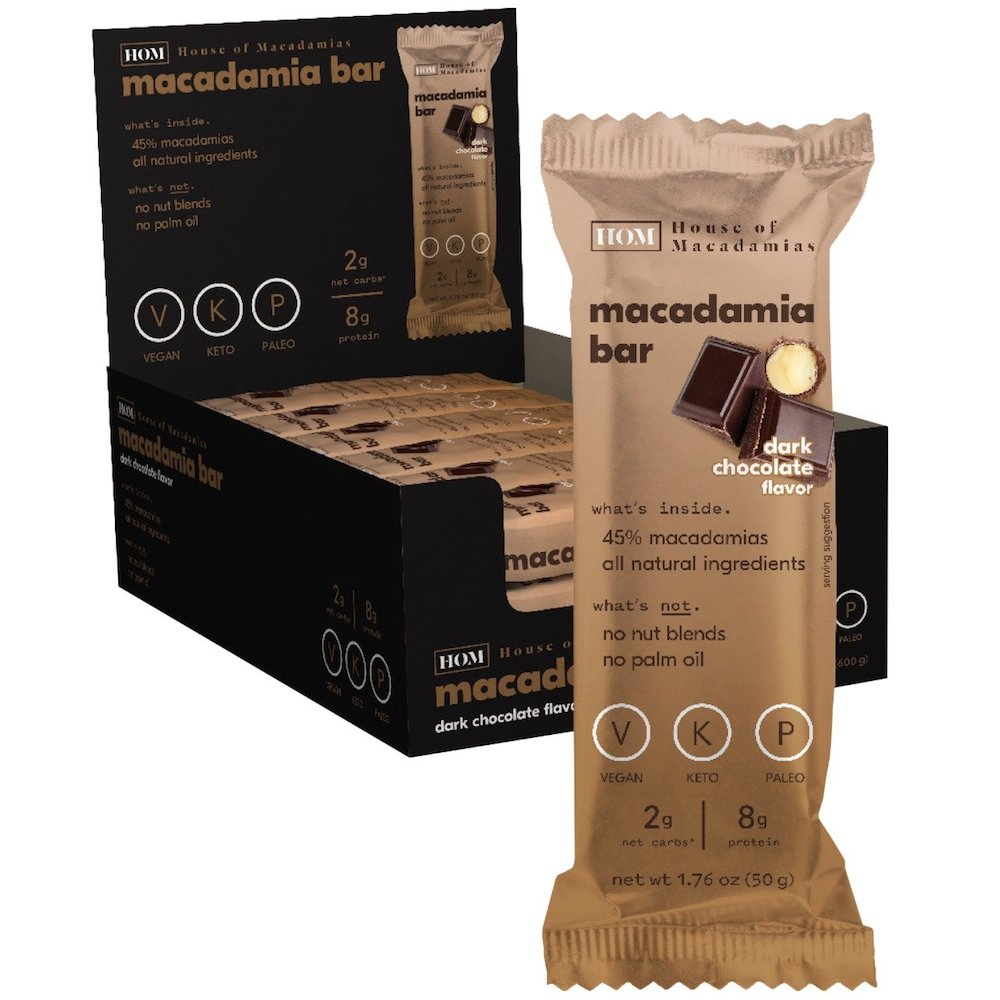 Dark Chocolate Macadamia Bar