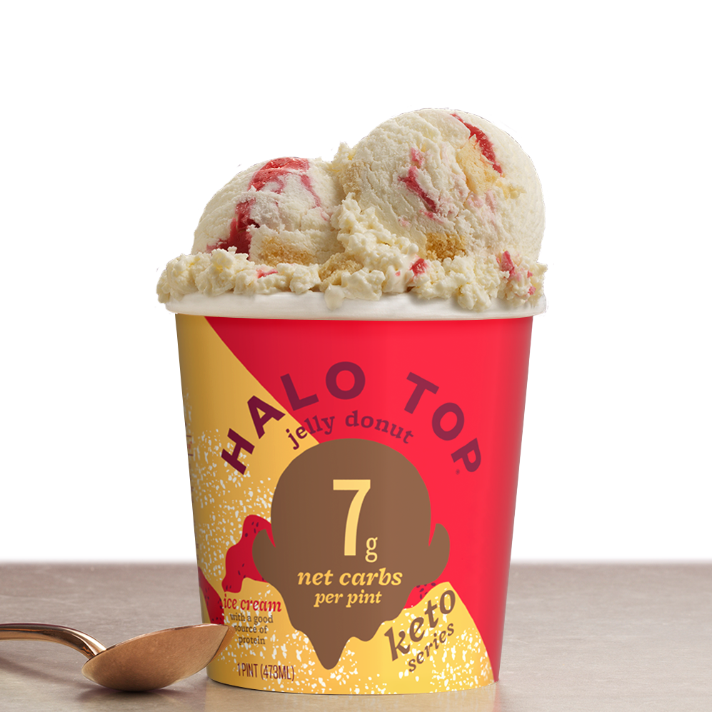 Jelly Donut - Halo Top - Keto Certified by the Paleo Foundation