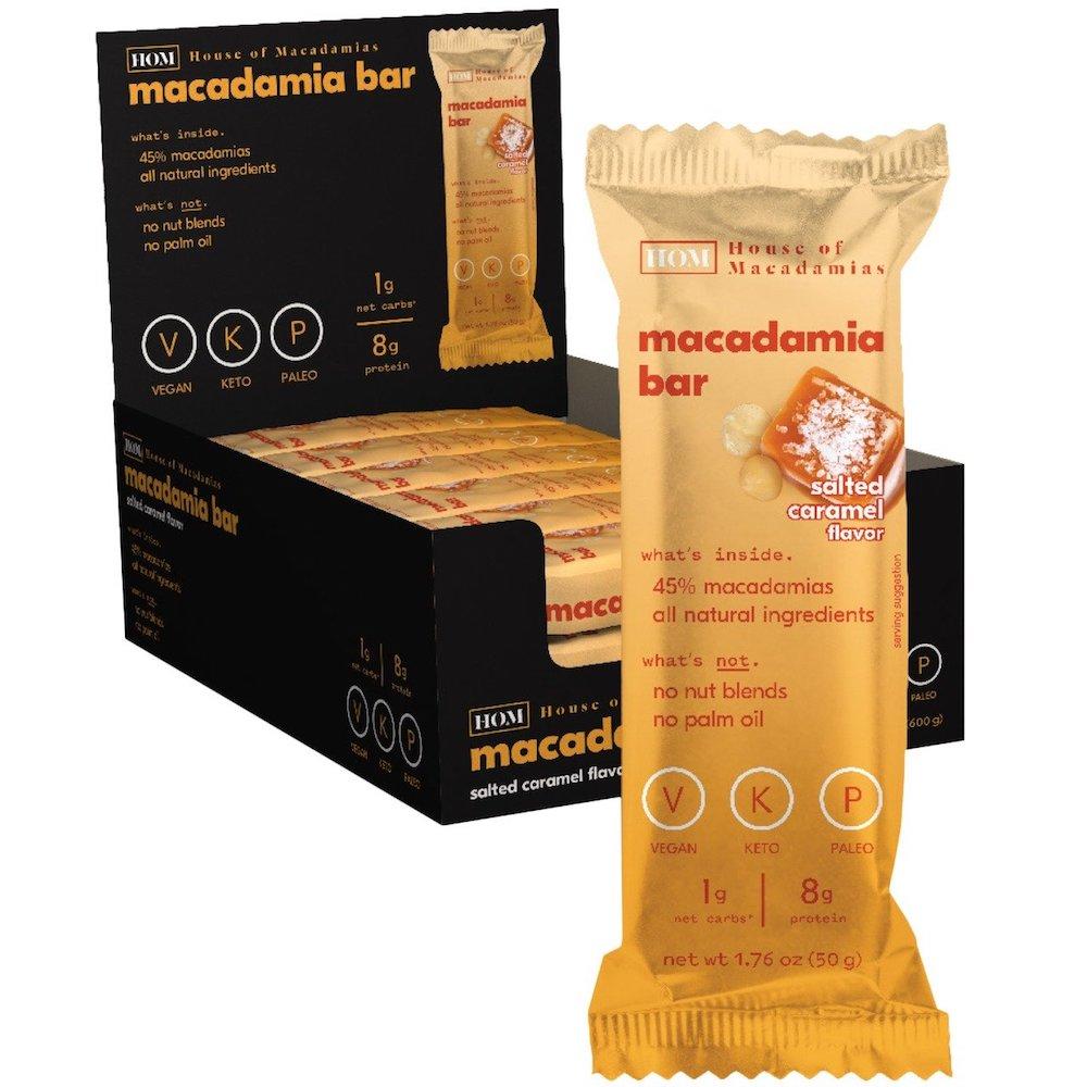 Salted Caramel Macadamia Bar