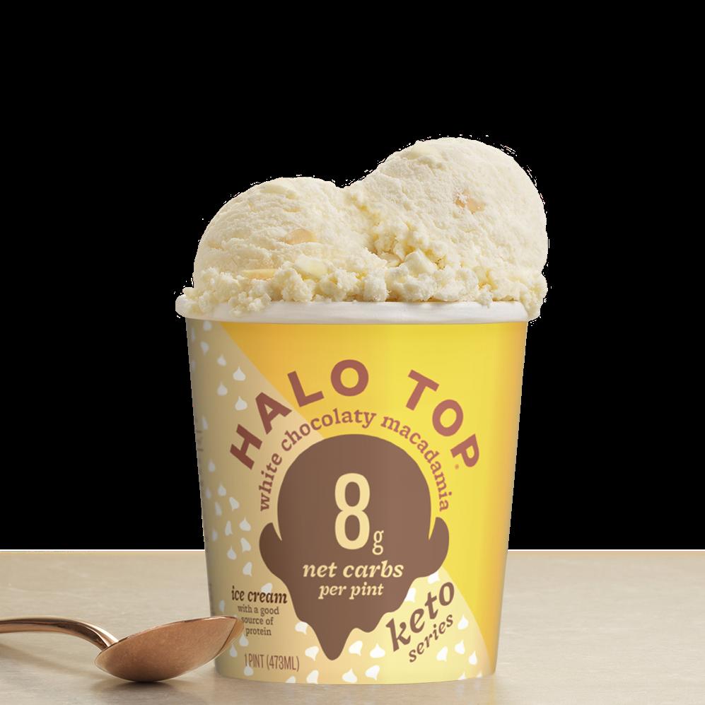 White Chocolaty Macadamia - Halo Top - Keto Certified by the Paleo Foundation