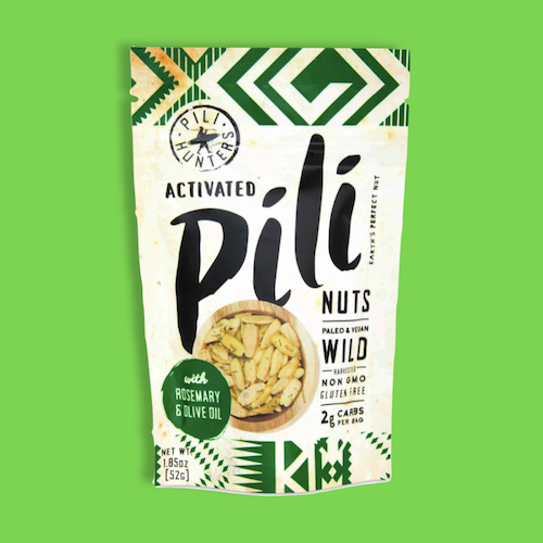 activated rosemary and olive oil pili nuts