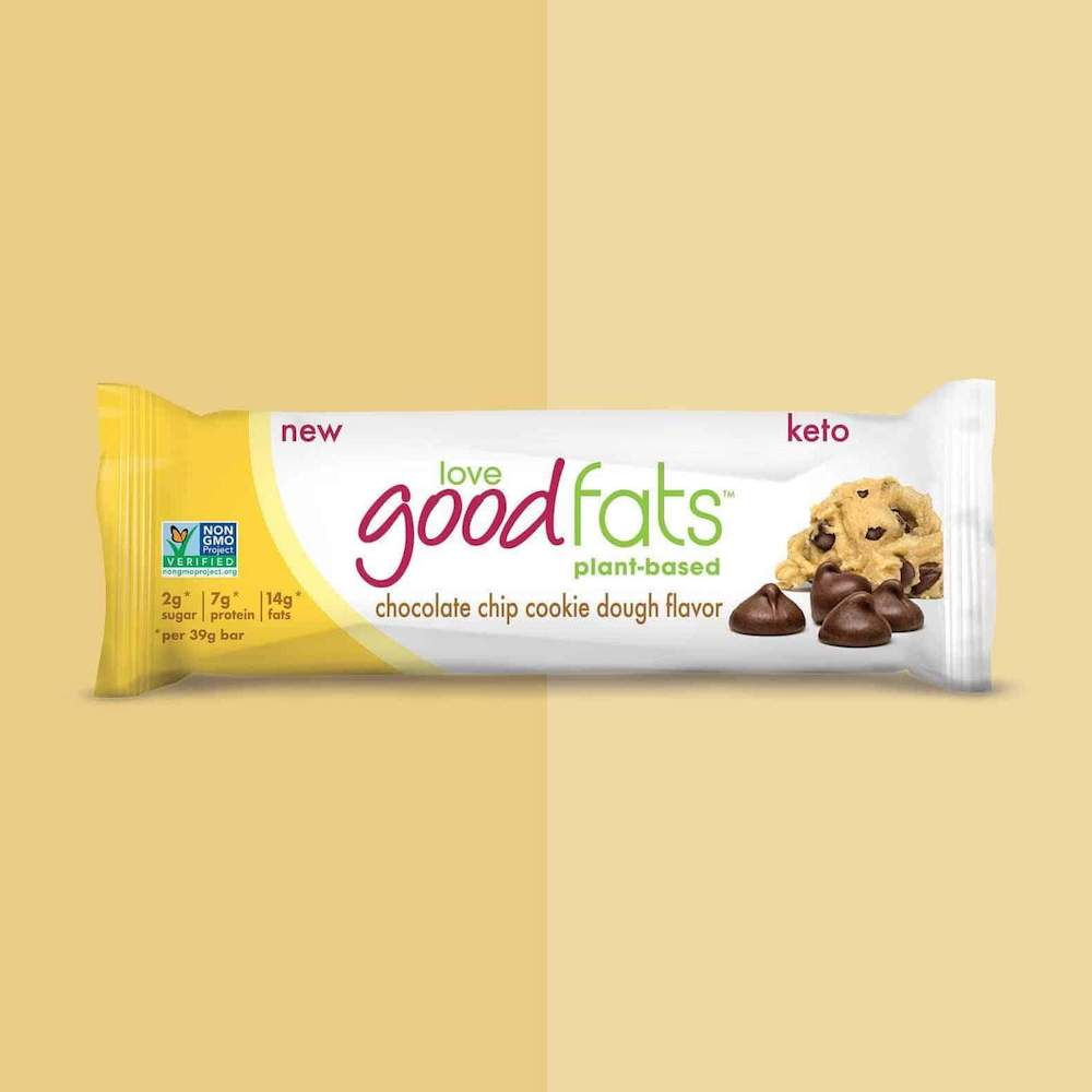 Chocolate Chip Cookie Dough Bar - Keto Certified by the Paleo Foundation