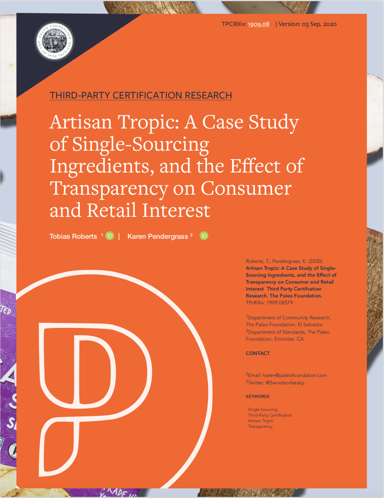 Artisan Tropic A Case Study of The Effect of Transparency on Retail Interest