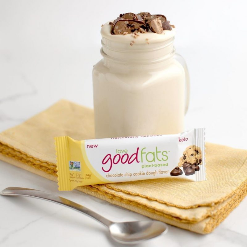 Chocolate Chip Cookie Dough Bar 1 - Love Good Fats - Keto Certified by the Paleo Foundation