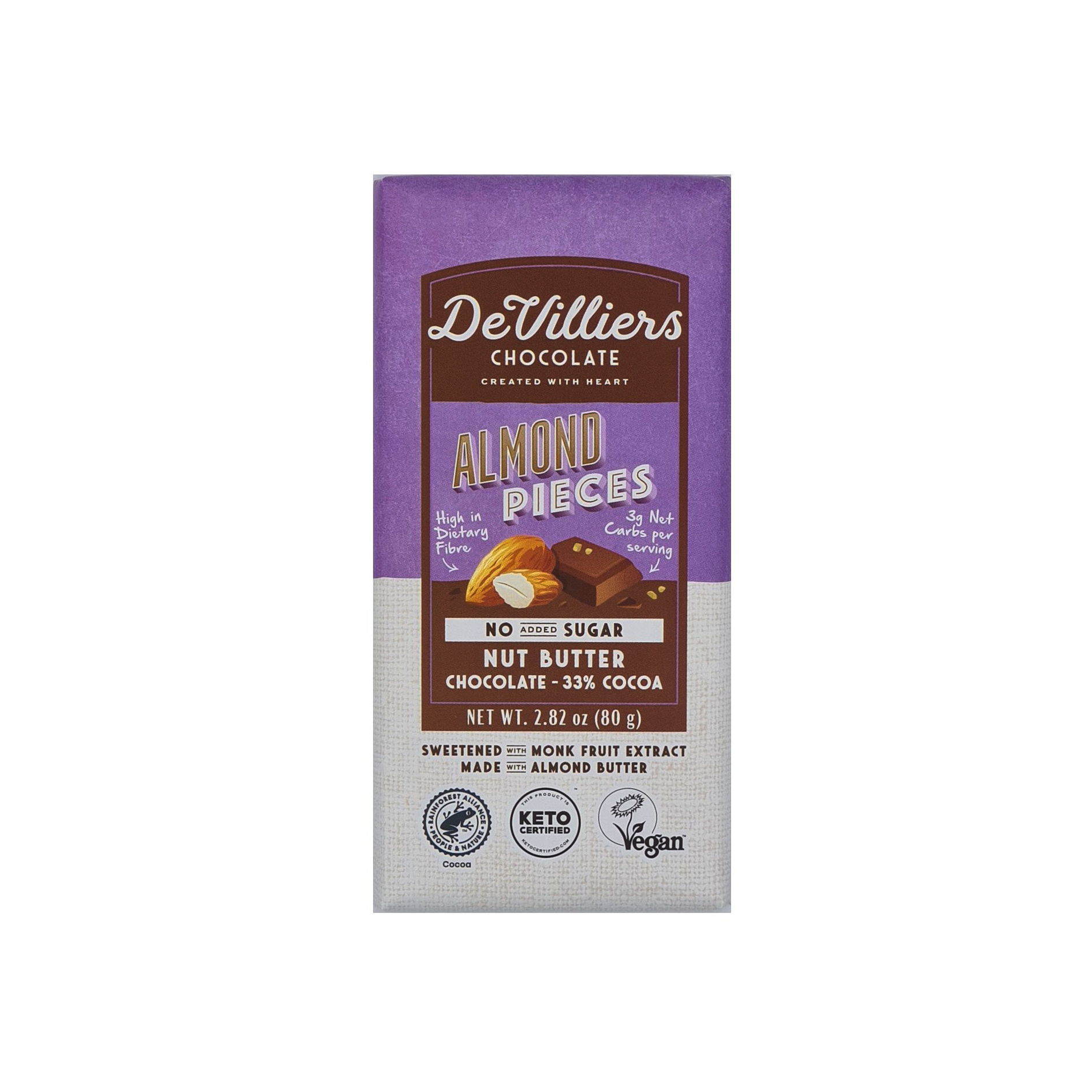 No Added Sugar Almond Nut Butter Chocolate with Almond