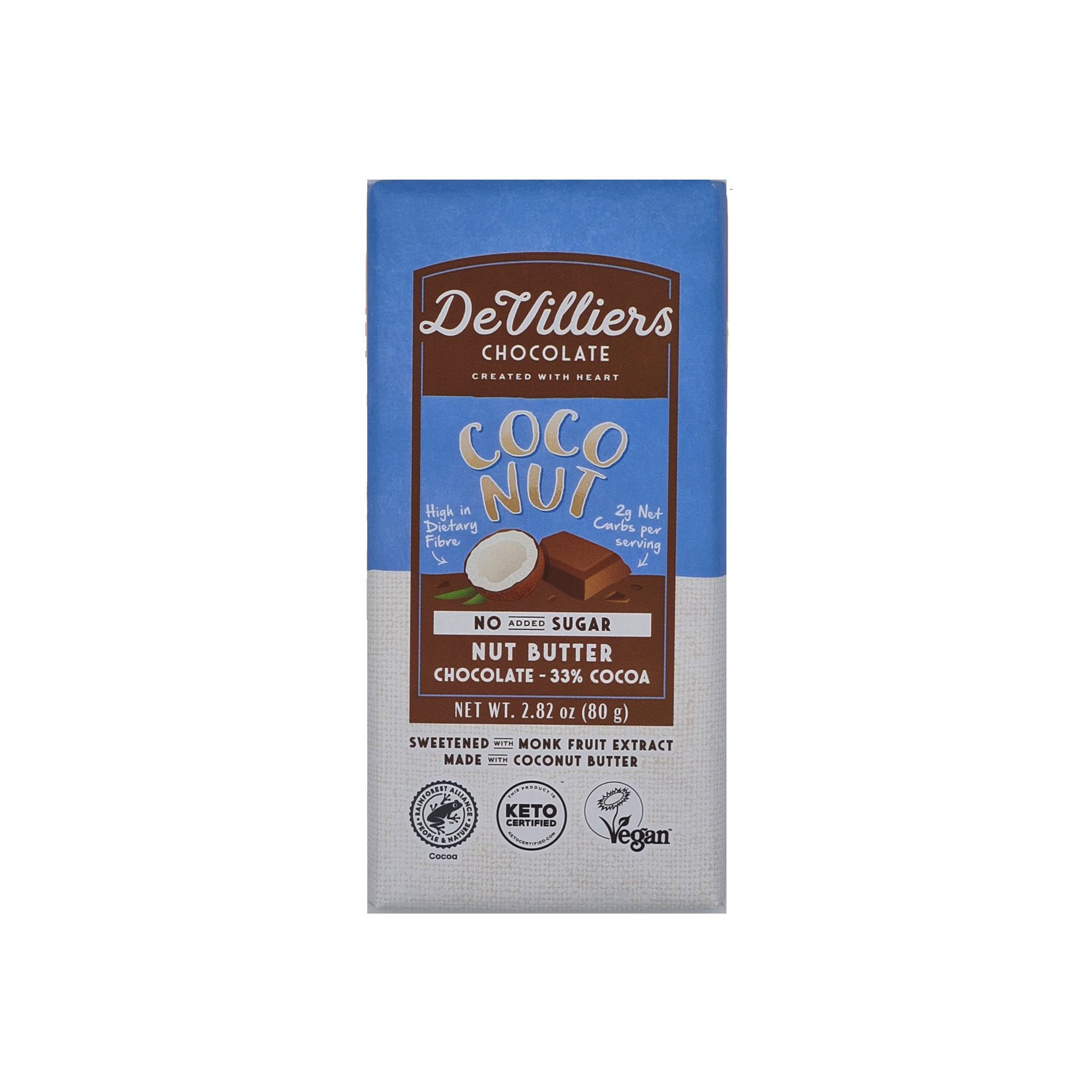 No Added Sugar Coconut Nut Butter Chocolate with Coconut