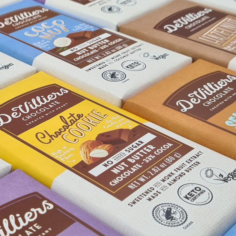 Nut Butter Chocolate Spread 1 - De Villiers Chocolate - Keto Certified by the Paleo Foundation